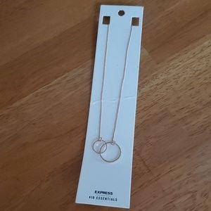 Express Interlocking Circles Necklace NWT